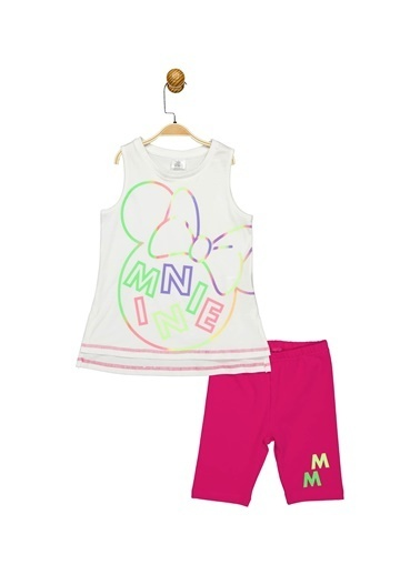 Minnie Mouse Lisanslı Çocuk Takım 17361 Beyaz